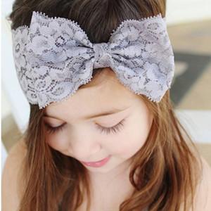 SeckinDogan Bebek Bantlar Dantel Moda Çocuk Saç Bandı Kız Bow Knot Pamuk Katı Saç Bow Bandı Casual Bebek Aksesuarları