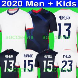 MORGAN 2020 2021 LLOYD Pulišić WILLIAMS 2019 Jerseys NEUE Fußball Jerseys schwarze Gold Cup Mexiko Fußball RAPINOE USAKinder-Kits Shirts