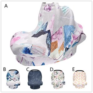 Plants pattern Baby Cradle Cover 5 Colors Leaves birds patterns new borns car seat shade Knitting fabric Shopping Cart Cover Baby Carrier