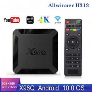 X96Q Smart Box Android 10.0 Caixa de TV Allwinner H313 Quad Núcleo 2GB 16GB Suporte 4K X96 Q Set Top Box Media Player