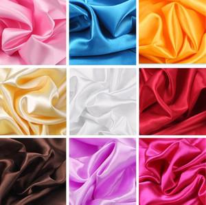 100cm * 150cm 16colors Seide und Satin-Gewebe Satin Farbe Butyl Silk Gift Box Futter Lieb