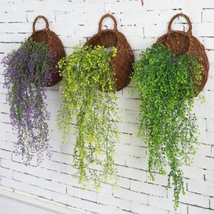 Künstliche gefälschte Silk Blumen-Rebe-Garten-Dekoration Hängen Garland Pflanze Künstliche Pflanzen Hausgarten Hochzeitsdeko
