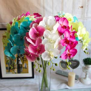 7 Blumenköpfe Artificial Waldhyazinthe Silk Blumenstrauß Phalaenopsis Startseite Party Hochzeit Decortive Florals Abziehbilder