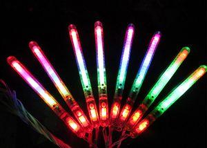LED 플래시 라이트 업 지팡이 발광 홀리데이 콘서트 크리스마스 파티 XMAS 선물 생일 Epacket 무료 배송 어린이 장난감 스틱