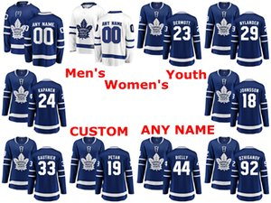 Toronto Maple Leafs Jerseys Travis Dermott Jersey William Nylander Kasperi Kapanen Andreas Johnsson Frederik Gauthier Hockey camisas personalizadas