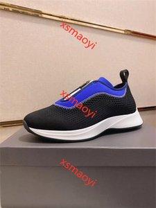 Fashion Brand Men B25 Low-top Sneaker hococal Black Mesh Bule White Neoprene Slip-on Zip-up Technical Trainers Men Shoes Designer Sneaker