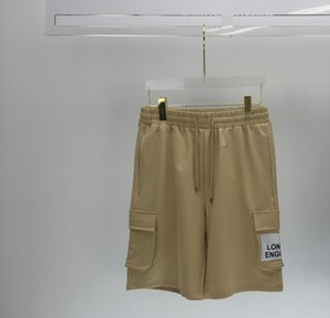 Luxury England London Drawstring Summer Fashion Women Men Pocket Logo Shorts pants Hip Hop High Street Casual Cotton Pants Four Colours