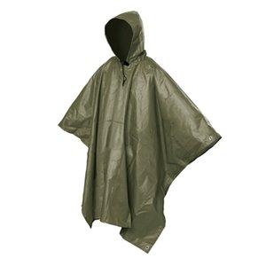 Men Rain Coat Travel Hoodie Waterproof Poncho Hiking Survival Backpacking New