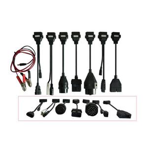 Araba için 2019 dapter Kabloları OBD2 OBDII Arabalar Teşhis Arayüz Aracı Tam Set 8 Araba Kabloları Için TCS CDP Pro artı Kablo