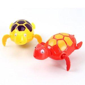 Schildkröte Klassische Badespielzeug Badezimmer Wanne Uhrwerk Wind UP Plastic Bad Pool für Baby Unisex Dropshipping