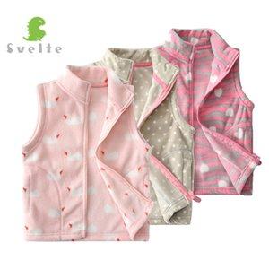SVELTE para 2-7 Y Crianças das meninas bonitos Fleece Vest Crianças lã Fur Colete Vetement Enfant Gilet Veste Primavera Queda