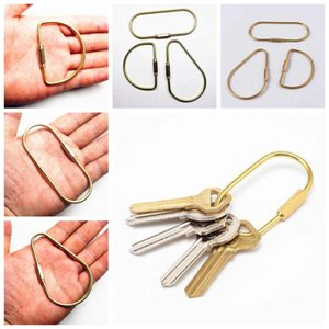 3 stilleri Pirinç Anahtarlık Altın Vintage Karabina Anahtarlık Anahtarlık Retro Araba Anahtarlık Organizatör ZZA1765 150pcs