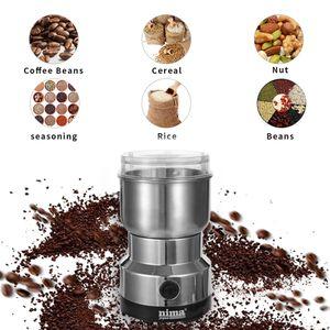 Fagioli all'ingrosso Coffee Grinder elettrico Mini Coffee Bean Dado macinacaffè multifunzionale casa macchina caffè cucina utensili EU Plug