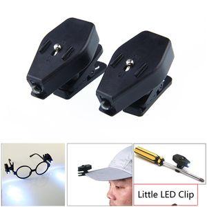 Mini Noche de luz LED flexible Clip rotación de 360 grados en las herramientas del casquillo del sombrero de gafas LED lectura lights