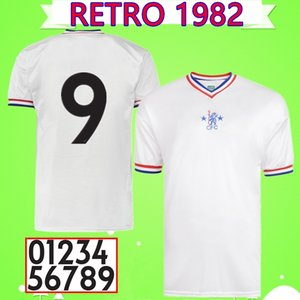 Hazard Robson Bumstead 1981 1982 1983 Retro soccer jersey away white football shirt Vintage Maillot 81 82 83 Camiseta antique Collection