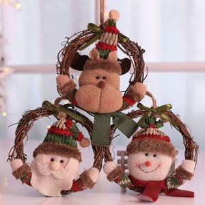 Árbol de Navidad Colgante de madera Drop Doll Adornos Árbol de Navidad Colgante Colgante Decoración de fiesta de Navidad Regalo para niños Niño