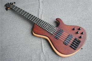 Nova personalizado de alta qualidade baixa de corda 5 a guitarra baixa elétrica bordo tigre folheado folheado fechados acessórios pretos do coletor frete grátis