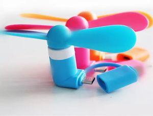 Mini USB Fan 2 em 1 Ventilador de Refrigeração Portátil Power MICRO USB Fan para Samsung OTG Android