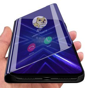 Smart Mirror en cuir pour OPPO Rechercher X2 Pro Luxury Effacer Téléphone cas pour OPPO Ace 2 F11 Pro