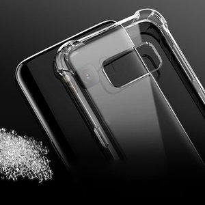 Para Samsung Note 10 Pro A30 A40 A50 A70 A80 A90 Funda transparente de TPU Absorción de golpes Cubierta trasera suave y transparente para Samsung S9 S10 + S10e