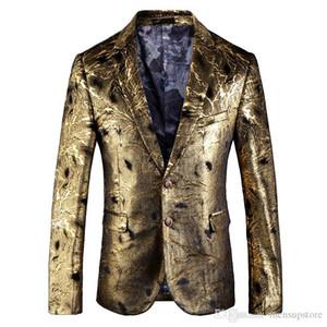 Autumn Winter Men Blazers Suits 19ss New Designer Gold Two Buttons Pockets Blazer