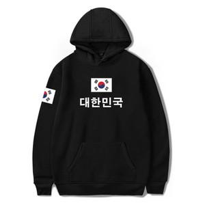 Nova moda sul-coreano da bandeira nacional Pringitng moleton 4XL Plus Size Hoodies de bandeira de Coréia Clothes