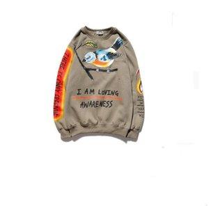 Dark Lucky Me I see Ghosts Sweatshirts Men Women's 2020 Spring Letters Flame Printed Hip Hop Sweatshirt Terry Mens Sweatshirts 1S