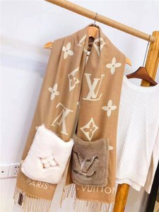 Wollene gestrickter Schal für Männer und Frauen im Herbst und Winter, Farbstreifen Blumenmustern, feines Handwerk und Mode Schale