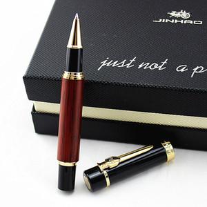 ahşap hediye kalem yazı Jinhao 650 yeni kırmızı ahşap tükenmez kalem yüksek kalite klasik ofis ve okul kalem,