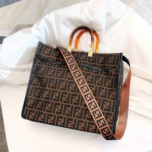 Presentes da forma Handle Tote Top Mulheres saco de compras das mulheres contorno quadrado 0129202