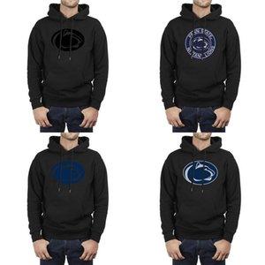 el logotipo del fútbol de Penn State Nittany Lions de malla Hombres con capucha de gran tamaño forrado sudaderas atléticos ligeros negro redondo del logotipo azul orgullo Gay EE.UU.