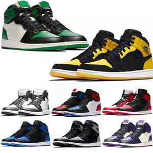 Zapatos para hombre púrpura og 1 Corte Green Pine para mujer de baloncesto 1s Top 3 del dedo del pie Bred Barons Chicago Chameleon Deportes zapatillas 5.5-13