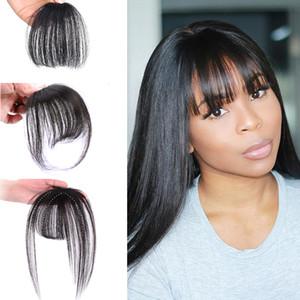 Fashion One Piece Hair Clip dans les cheveux Bangs / Full Fringe / Extensions de cheveux pour les femmes 5 couleurs