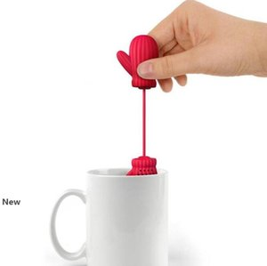 Teefilter Special entwarfen Startseite Weihnachtsmann Handschuhe Form Teefilter Interesting ungeheftetes Silikon Tee Kaffee Infuser Filter IIA23