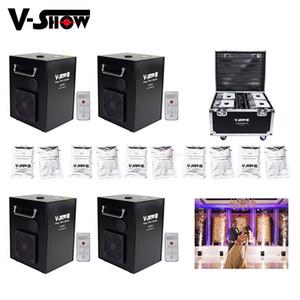 4pcs con Flightcase y 10 bolsas de polvo Spark 750W fría de fuegos artificiales de la máquina DMX y boda de control remoto Para efecto de etapa