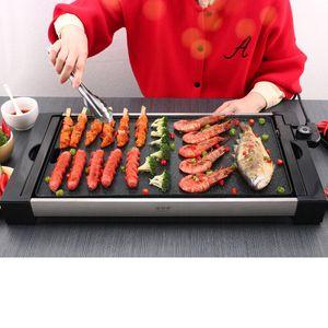 전기 베이킹 트레이 가정용 금연 철 플레이트 바베큐 BBQ 맛있는 요리 그릴 철판이 기계를 요리 분리