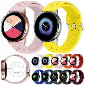 Pulsera de silicona suave de la correa de reloj de Samsung Galaxy Activo 2 40mm 44mm Reemplazo de deporte de la goma