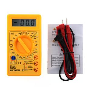 WHDZ DT832 Digital-Multimeter AC DC Voltmeter Amperemeter Ohm Auto Polarity Tester Summer Diagnosesonde Gelb