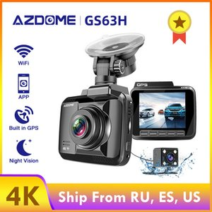 Cheap DVR Dash Camera AZDOME GS63H 4K 2160P Dual Lens Built in GPS WiFi FHD 1080P Front + VGA Rear Camera Car DVR