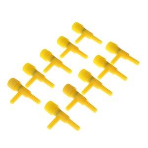 10 piezas de plástico del conector de la válvula neumática acuario de la válvula de control de velocidad de flujo de aire bomba de aire Splitter
