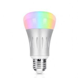 Bombilla de luz LED inteligente Aplicación para smartphone Controlada Regulable Multicolor 7W E27 Bombilla de luz WiFi Funciona con control de voz de Alexa DHL