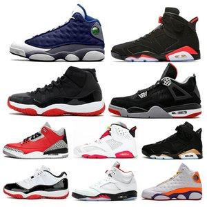 الأحذية 4 13 من الرجال والنساء لكرة السلة ولدت الجديد 11 DMP النار الأحمر الاسمنت كونكورد 6 هير فلينت لاكي الكهربائية الخضراء احذية رياضية
