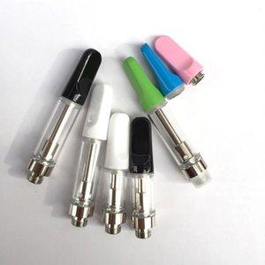 Alta qualità Flat White / nero Consigli ceramica spessa olio Cartuccia wickless atomizzatore Ecig Vape Pen .5ml 1ml TH205 monouso vaporizzatore