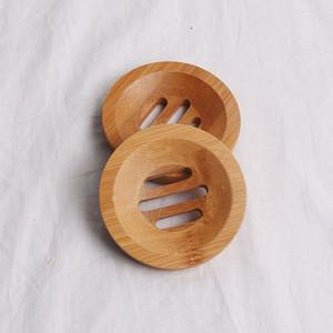 Sabão de madeira de bambu Natural Atacado New criativa Dish Titular Armazenamento Banho Rodada Escorra Soap Box Eco-Friendly
