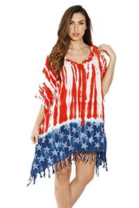 Повседневные платья Riviera Sun American Flag CAFTAN Купальник накрыть кафтанс