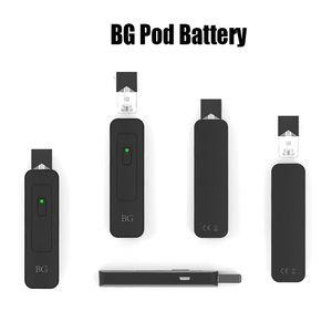 Batteria BG Pod 650mAh Pod Vape Pen a tensione variabile VV USB Caricabatterie Cartucce Kit Vape Pen per olio di succhi Pod Coco Pods Original