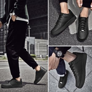 Deri Ayakkabı Platformu Sneakers Klasik Siyah Fabrika Doğrudan Üst Kalite Chaussures Ayakkabı Platformu Sneakers Çin Özelleştirilmiş izin ver