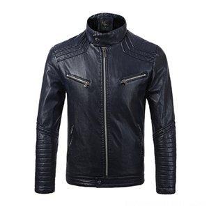 Augmenter le bas porter des manteaux Vêtements d'extérieur pour hommes femmes Vêtements pour femmes en cuir Vêtements Homme Augmentation bas Locomotive Pu service de l'Homme en vrac Coat Wi