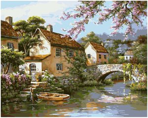 """DIY Painting By Numbers Kits Paint Oil Paint Adult Hand Painted-landscape 16""""x20"""""""
