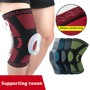 Knee Brace compressione protezione in silicone Primavera menisco Supporto sollievo dal dolore al ginocchio manica
